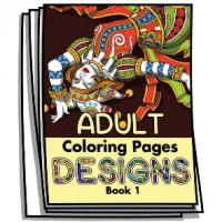Adult Coloring Page Designs - Book 1 - Coloring Pages for Adults