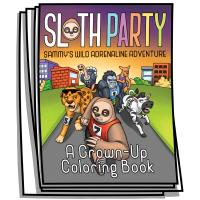Just for Fun - Sloth Party Coloring Pages