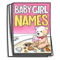 Baby Bump - Baby Girl Names Coloring Pages
