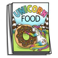 Just for Fun - Unicorn Food Coloring Pages