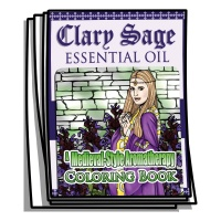 Aromatherapy - Clary Sage Essential Oil Coloring Pages