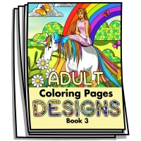 Adult Coloring Page Designs - Book 3 - Coloring Pages for Adults