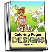 Adult Coloring Page Designs - Book 4 - Coloring Pages for Adults