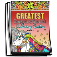 Greatest Inspirational Coloring Quotes - Book 2 - Coloring Pages for Adults