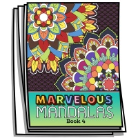 Marvelous Mandalas - Book 4 - Coloring Pages for Adults