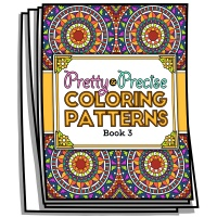 Pretty and Precise Patterns - Book 3 - Coloring Pages for Adults