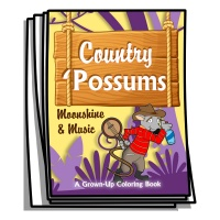 Just for Fun - Country Possums Coloring Pages