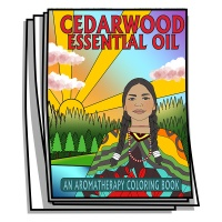 Aromatherapy - Cedarwood Essential Oil Coloring Pages