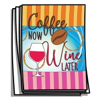 Just for Fun - Coffee Now, Wine Later Coloring Pages
