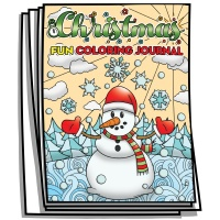 Coloring Journal - Christmas Fun & Games