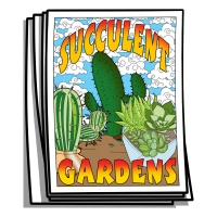 Just for Fun - Succulent Gardens Coloring Pages