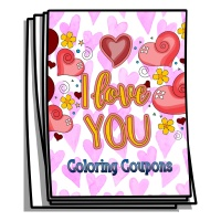 I Love You Coloring Coupons