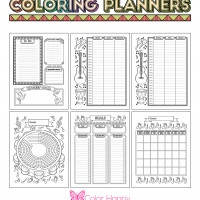 Coloring Journal - Music Planner