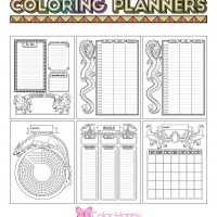 Coloring Journal - Dragons Planner