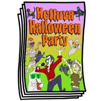 Just for Fun - Helluva Halloween Party Coloring Pages