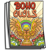 Just for Fun - Boho Owls Coloring Pages