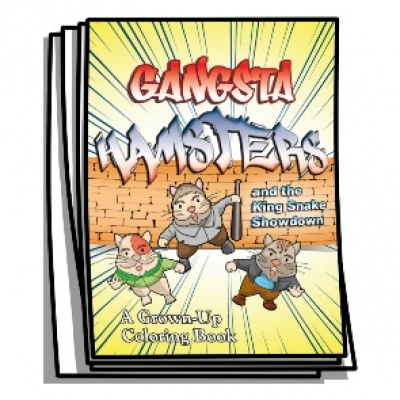 Just for Fun - Gangsta Hamsters Coloring Pages