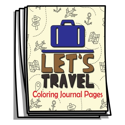 Coloring Journal - Let's Travel Coloring Pages