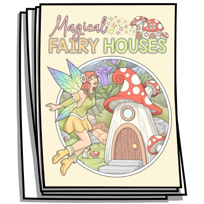 Inspire - Magical Fairy Houses Coloring Pages