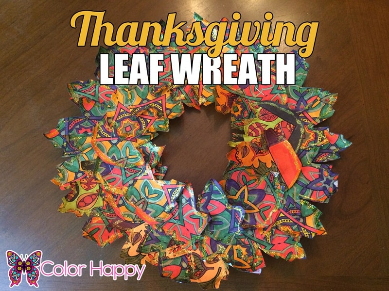 Thanksgiving Leaf Wreath
