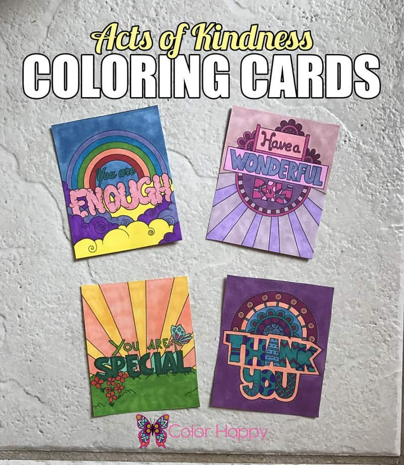 This is a graphic of Stupendous Kindness Coloring Cards