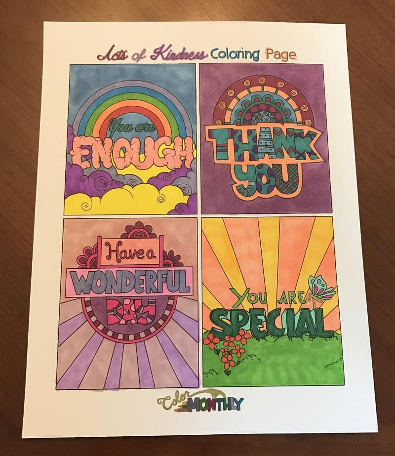 It's just a photo of Agile Kindness Coloring Cards