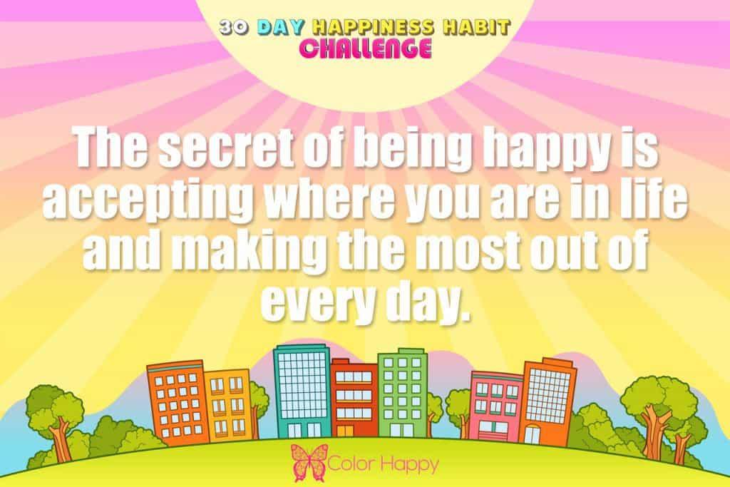 happiness challenge 5