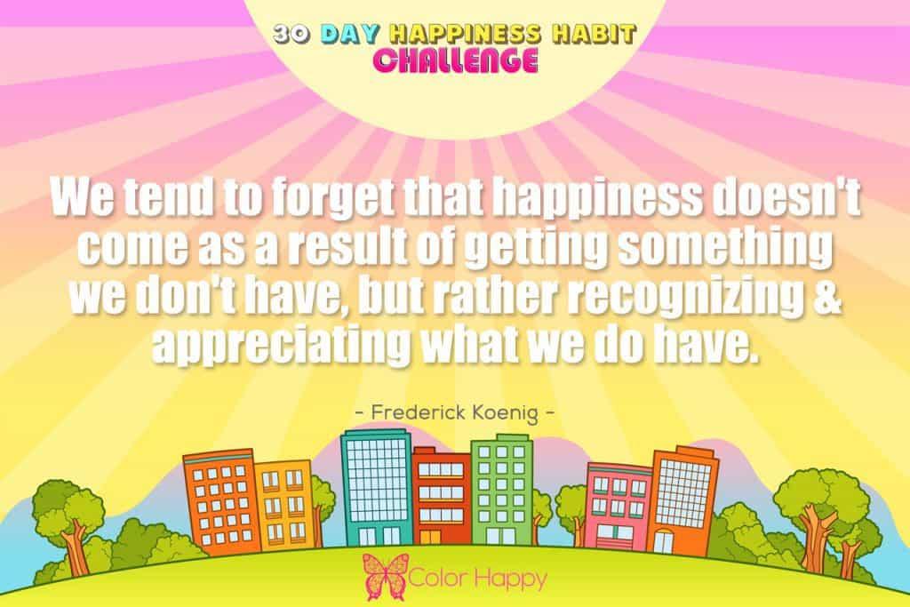 happiness challenge 8